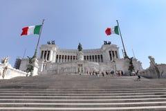 Altare Della Patria alla piazza Venezia Roma Fotografia Stock Libera da Diritti