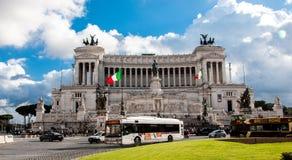 Altare Della Patria/Altaar van het Vaderland, Nationaal Monument aan Victor Emmanuel II, Rome Italië stock afbeelding