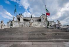 Altare-della Patria - Altar des Vaterlands Rom, Italien Stockbild