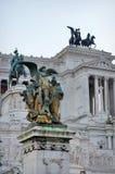 Altare della Patria (Altar of the Fatherland). National Monument to Victor Emmanuel II - landmark attraction in Rome, Stock Photo