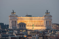 Altare della Patria, as seen from Pincio, Rome, Italy. Altare della Patria, as seen from Pincio, Villa Borghese at sunrise Royalty Free Stock Photos