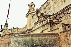 Altare-della Patria-Brunnen Rom Italien Stockfoto