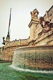 Altare-della Patria-Brunnen Rom Italien Lizenzfreie Stockbilder