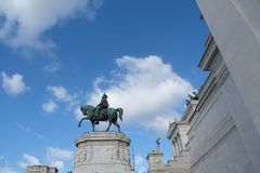 Altare della patria dalla piazza Venezia, Roma, Italia Immagini Stock Libere da Diritti