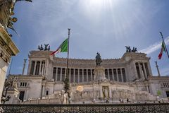 Altare della patria, della Patria di Altare, alla piazza Venezia a Roma, l'Italia Fotografia Stock Libera da Diritti
