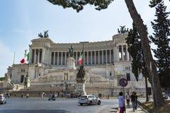 Altare della patria, della Patria di Altare, alla piazza Venezia a Roma, l'Italia Immagini Stock