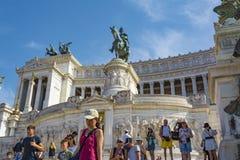 Altare della patria, della Patria di Altare, alla piazza Venezia a Roma, l'Italia Immagine Stock Libera da Diritti