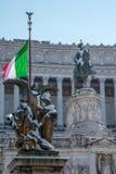 Altare della Patria Dnowfall Detail. Snow covers Altare della Patria, Alter of the Fatherland, in Rome, Italy Stock Photos