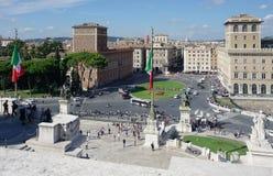 Altare della patria ed il quadrato di Venezia Immagini Stock Libere da Diritti