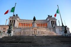 Altare della Patria eller Monumento Nazionale en Vittorio Emanuele II, Rome, Italien arkivfoto