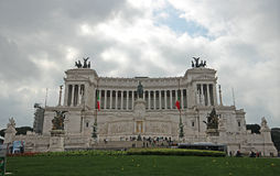 Altare della Patria. An historical and wonderful architecture in Rome Stock Image