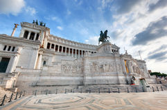 The Altare della Patria monument in Rome, Italy. The Altare della Patria in Rome, Italy. National Monument to Victor Emmanuel II Royalty Free Stock Photography