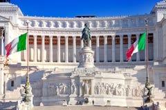 Altare della Patria and monument to King Stock Image