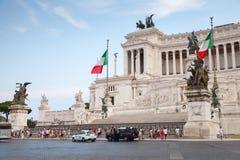 Altare-della Patria, Nationaldenkmal in Rom Lizenzfreies Stockfoto