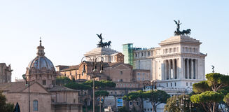Altare della Patria and other buildings in Rome Royalty Free Stock Image