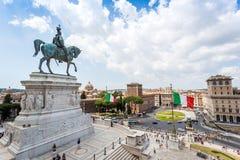 Altare della Patria, Piazza Venezia in Rome, Italy Stock Photos