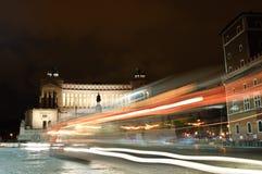 Altare della patria, Roma, Italia, colpo di notte Fotografia Stock