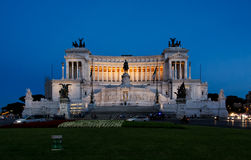 Altare della patria, Rome. The Monument of Victor Emmanuel and Venice Square Stock Images
