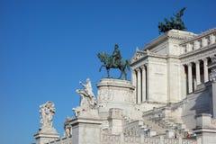 Altare della Patria (som betyder altaret av fäderneslandet) i Rome Arkivfoto