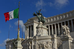 Altare della Patria Vittoriano in Rome. The symbol of italian nation in the centre of Rome Stock Photos