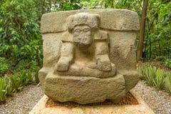 altare della pietra del olmec del Pre-latino-americano Fotografia Stock Libera da Diritti