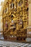 Altare della scrofa giovane dentro la cattedrale di Granada Fotografia Stock