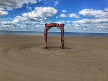 Altare della spiaggia Fotografia Stock
