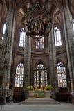 Altare della st Lorenz Church, Norimberga, Germania Fotografia Stock Libera da Diritti