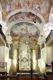 Altare della st Nicholas Church a Praga Immagini Stock Libere da Diritti