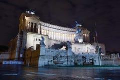 Altare della vista di notte di patria Fotografia Stock