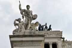Altare delle statue di patria Fotografie Stock Libere da Diritti