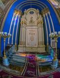 Altare dentro della sinagoga ortodossa Immagine Stock