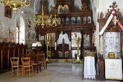 Altare dentro il monastero di Arkadi Fotografie Stock