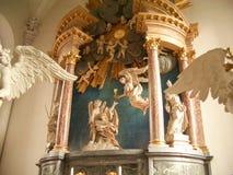 Altare dentro il Vor Frelsers Kirke, Copenhaghen Fotografia Stock Libera da Diritti