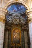 Altare dentro la basilica del san Mary Major - Roma Fotografia Stock