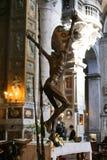 Altare dentro la basilica del san Mary Major - Roma Immagini Stock