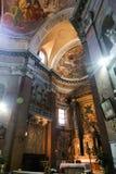 Altare dentro la basilica del san Mary Major - Roma Immagine Stock