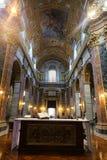 Altare dentro la basilica del san Mary Major - Roma Fotografie Stock
