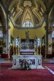 Altare dentro la chiesa della st Euphemia fotografia stock