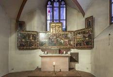 Altare dentro la cupola famosa a Francoforte Fotografia Stock