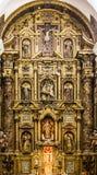 Altare dettagliato nella chiesa di Cadice Immagini Stock