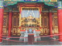 Altare di Buddha nel tempio di Yuantong Immagini Stock