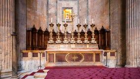 Altare di celebrazione nel panteon Fotografia Stock Libera da Diritti