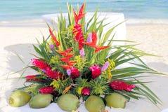 Altare di cerimonia nuziale di spiaggia Immagini Stock