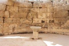 Altare di Chruch, Emmaus Nicopoli d'Epiro, Israele Fotografie Stock Libere da Diritti