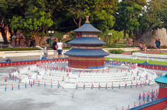 Altare di cielo in Mini Siam Park Fotografia Stock Libera da Diritti