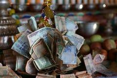 Altare di donazione di buddismo Fotografia Stock
