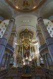 Altare di Dresda Frauenkirche (chiesa della nostra signora) Fotografia Stock Libera da Diritti