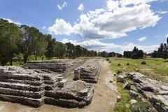 Altare di Ierone II Siracusa, Sicilia L'Italia Fotografia Stock Libera da Diritti