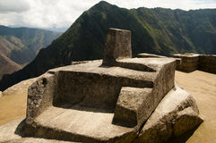 Altare di Intihuatana - Machu Picchu - Perù Fotografie Stock